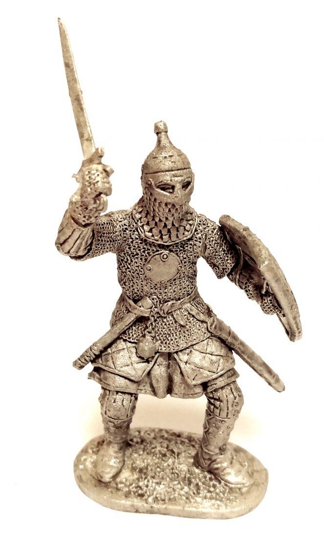 Фигурка Русский ратник 13-14 в. олово
