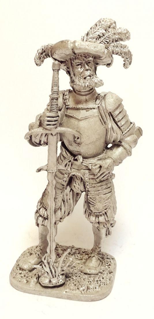 Фигурка Ландскнехт с мечом 16в. олово