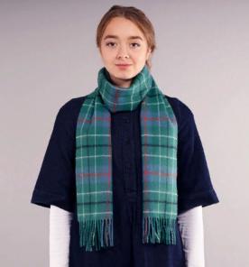 шарф теплый шотландский 100% шерсть ягнёнка ,расцветка клана Дункан (старинный вариант), DUNCAN ANCIENT TARTAN LAMBSWOOL SCARF