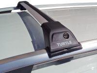 Багажник Turtle Tourmaline V1 на Skoda Karoq, серебристый, на рейлинги, производство Turtle (Турция)