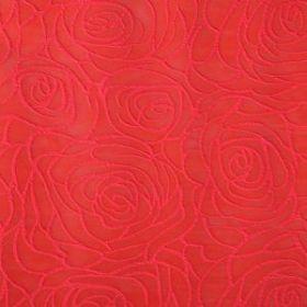 """Фетр ламинированный фактурный """"Розы"""", красный, 57 х 57 см, упак 10 листов"""