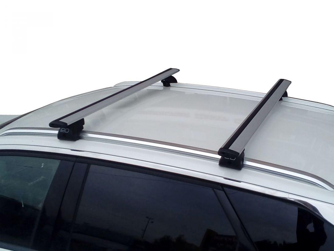 Багажник на интегрированные рейлинги Peugeot 3008 (2016-...), Евродеталь, крыловидные дуги