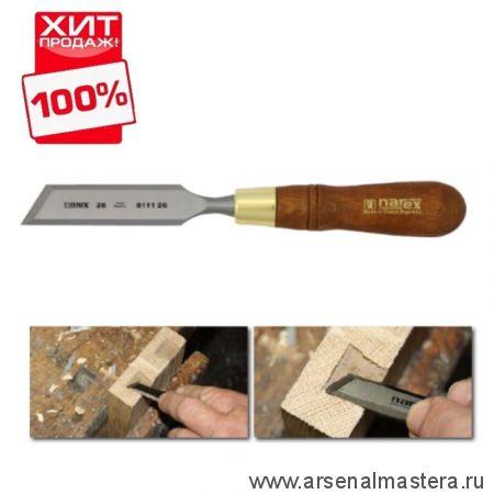 Стамеска косая правая с ручкой Wood Line Plus 26 мм Narex 811126 ХИТ!