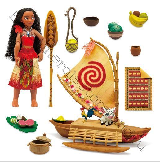 Кукла Моана Дисней с лодкой