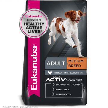 Eukanuba Adult Medium Breed для взрослых собак средних пород с курицей