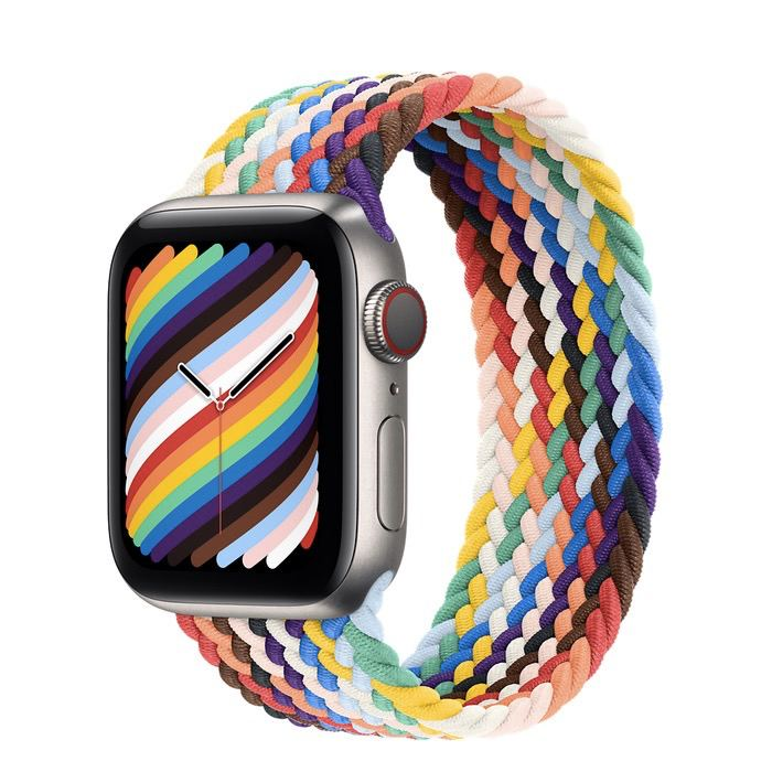 Часы Apple Watch Edition Series 6 GPS + Cellular 40mm Titanium Case with Pride Edition Braided Solo Loop