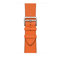 Ремешок Apple Watch Hermès Orange Swift Leather Attelage Single Tour из кожи (для корпуса 44 мм)