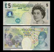 Великобритания - 5 фунтов 2002 год. Золотой юбилей правления Королевы Елизаветы II Msh