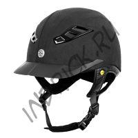Шлем для верховой езды EQ3 Lynx Microfoil черный матовый