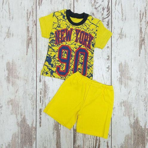 Костюм NY 90 желтый: футболка, шорты