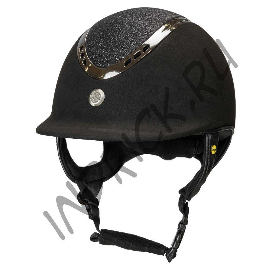 Шлем для верховой езды EQ3 Pardus Micromocca Черный Песок (винтовая регулировка)
