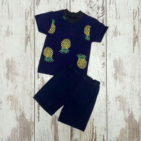 Костюм ананас темно-синий: футболка, шорты