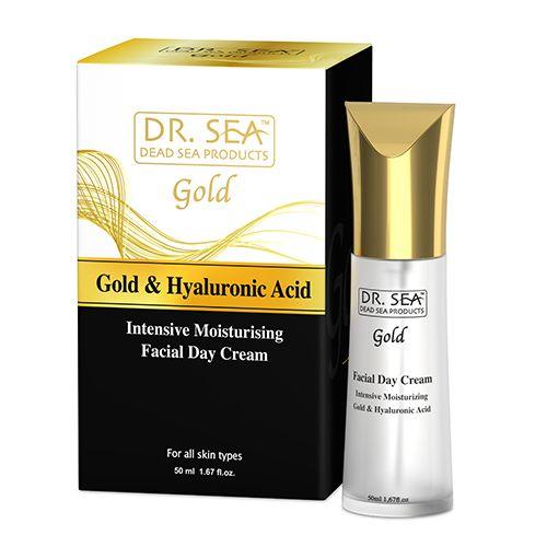 Интенсивный увлажняющий дневной крем для лица с золотом гиалуроновой кислотой и витамином Е Dr.Sea (Доктор Си) 50мл