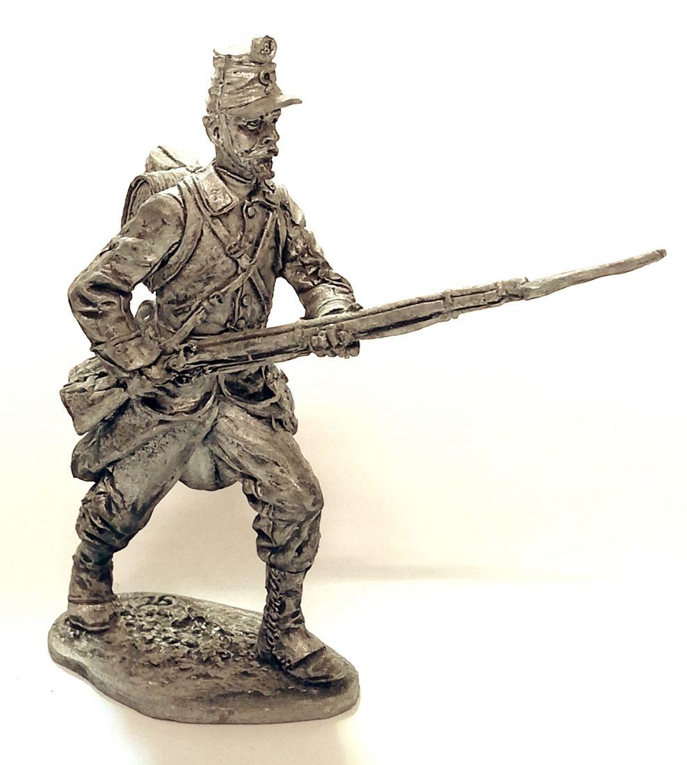 Фигурка Рядовой пехотного полка. Италия, 1859 год олово