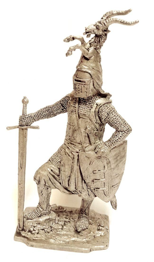 Фигурка Германский  рыцарь, 13в олово