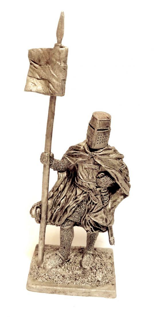 Фигурка Тевтонский рыцарь, 1230-83г олово