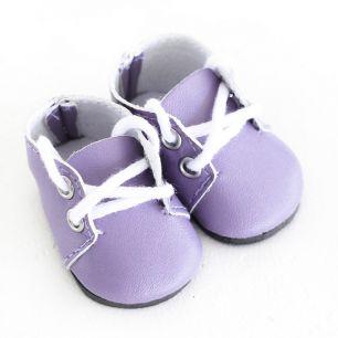 Обувь для кукол - ботиночки 5 см (сиреневые)