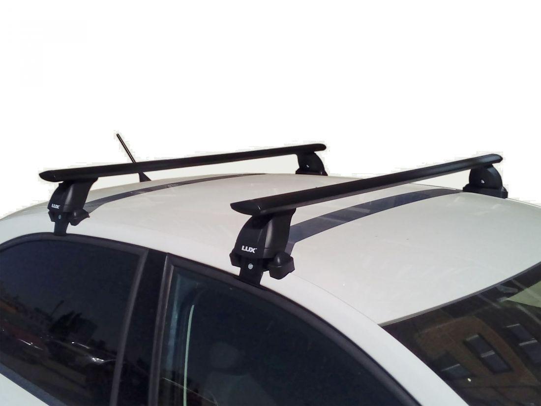 Багажник на крышу Skoda Superb B8 (2015-...), Lux, черные крыловидные дуги