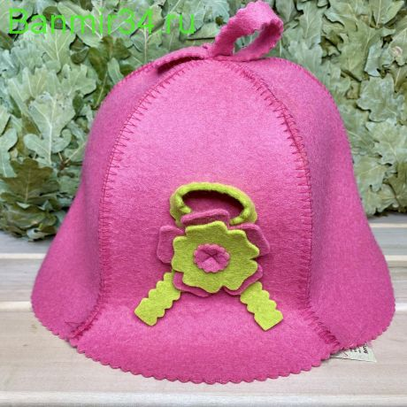 """Женская шапка """"Кокетка"""" розовая"""