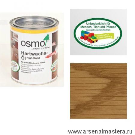 Цветное масло с твердым воском Osmo Hartwachs-Ol Farbig слабо пигментированное 3071 Мед, 0,125 л