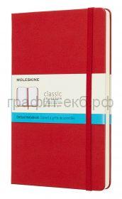 Книжка зап.Moleskine Large Classic в точку красная QP066F2