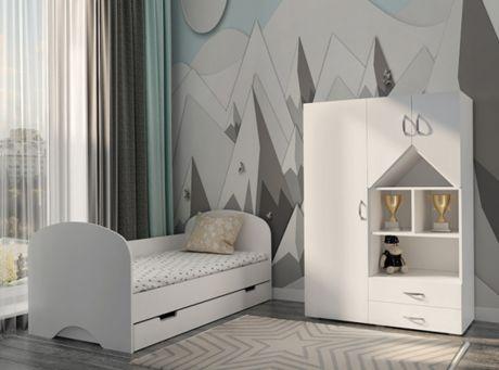 Комплект мебели Нордик - кровать и стеллаж