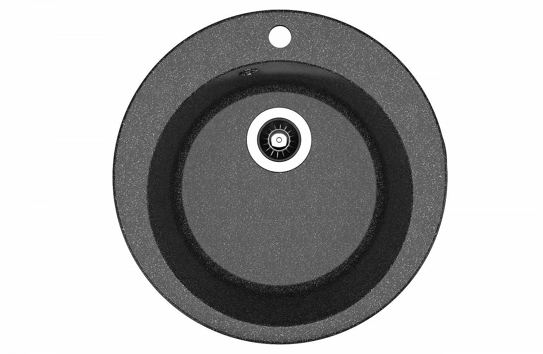 Мойка каменная Rr.Gans (круглая)Гала черный СМс (d 510 гл.20см)