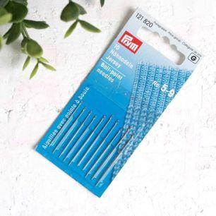 PRYM Иглы ручные для трикотажных полотен с шарообразным острием № 5-9, уп.10 шт.