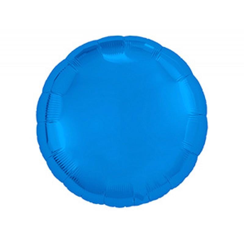 Круг синий шар фольгированный с гелием