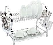 Сушилка д/посуды металлическая 2-ярусная