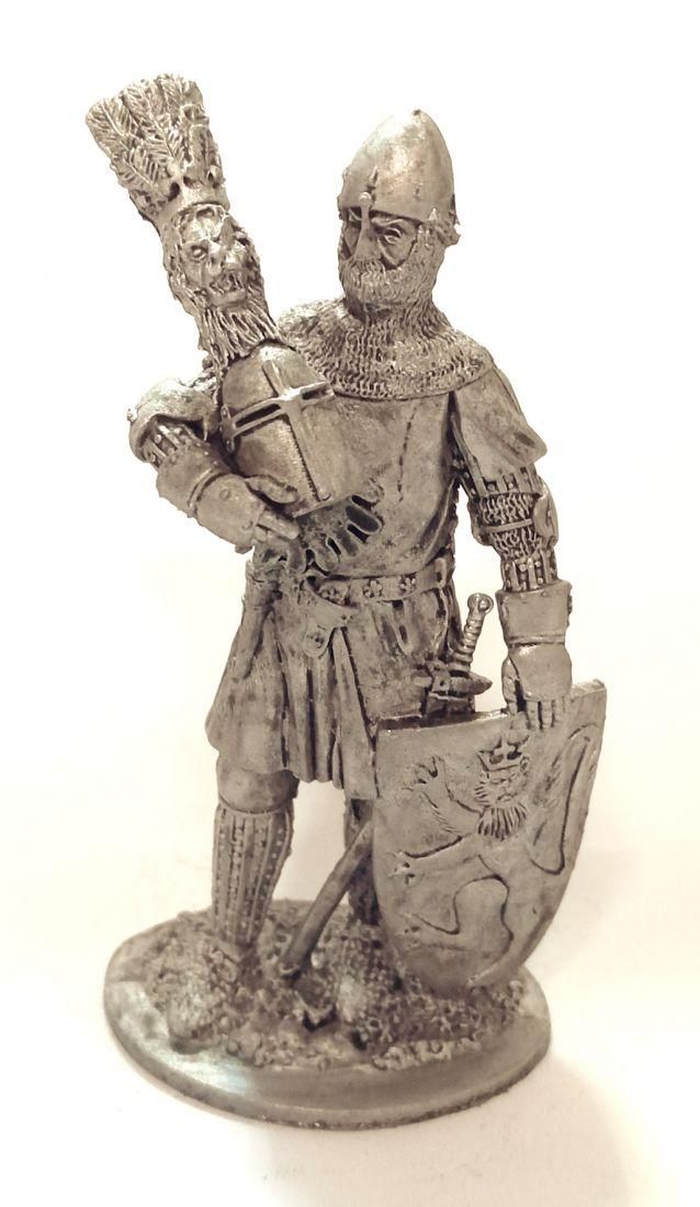 Фигурка Немецкий рыцарь Гюнтер фон Шварцбург, 1345 год олово