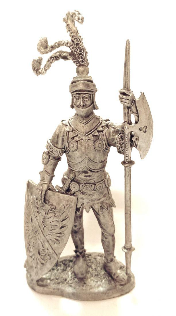 Фигурка Европейский рыцарь, 15 век олово