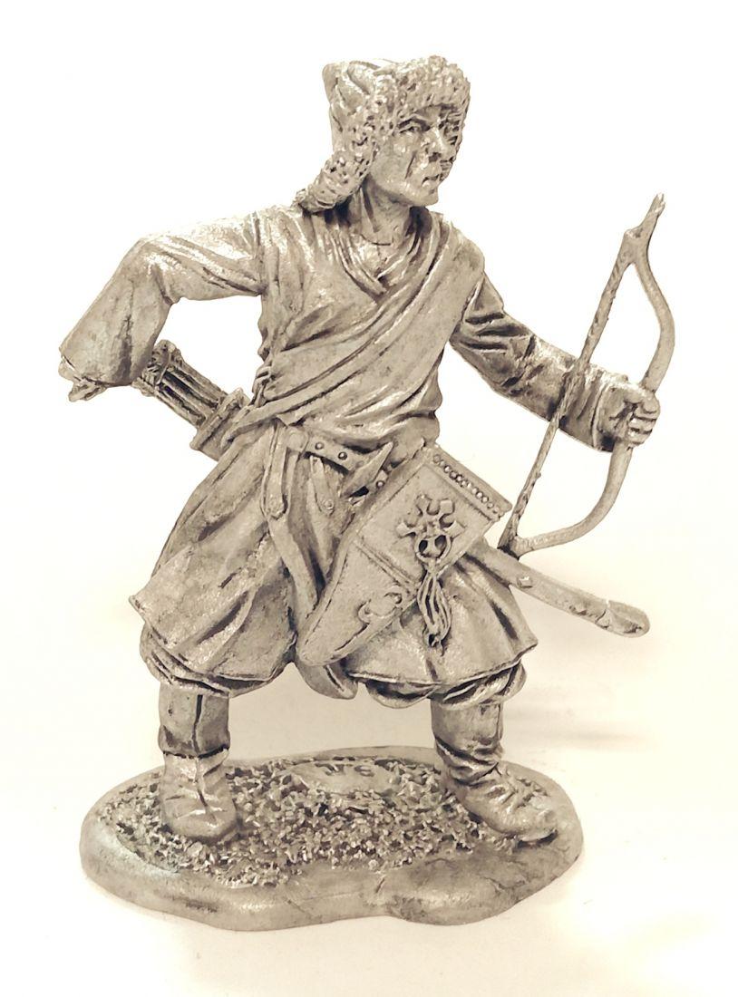 Фигурка Монгольский лучник, 13 век олово