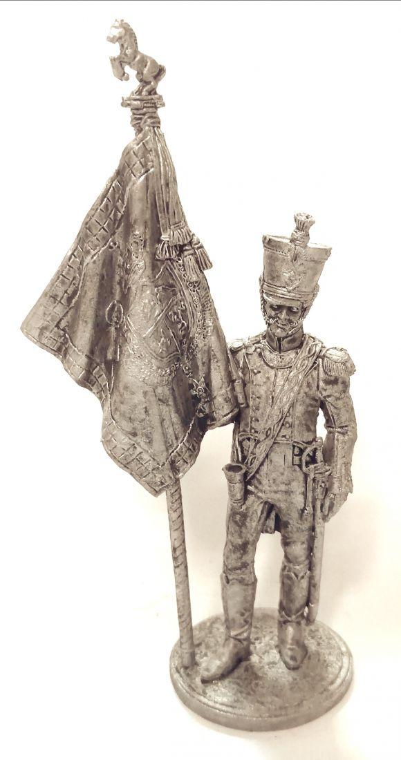 Фигурка Офицер-знаменосец 5-го линейного полка Реал Калабрия. Неаполь, 1811-12 гг. олово