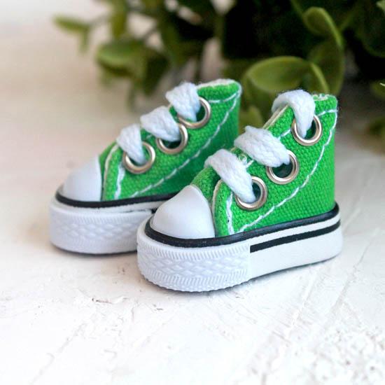 Обувь для кукол - кеды 3,5 см - зеленые