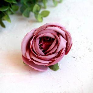 Бутон розы 4,5 см. - тканевый малиновый