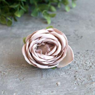 Бутон розы 4,5 см. - тканевый бежевый