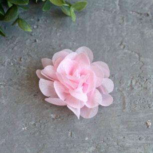 Цветок тканевый воздушный 4,5 см., розовый