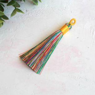Кисточка декоративная, разноцветная 8 см.