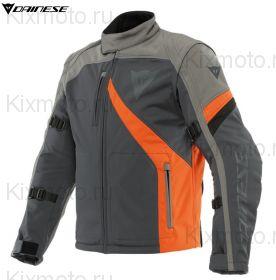 Куртка Dainese Ranch Tex, Черно-серо оранжевая