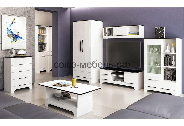 Гостиная Верона (комод МН 024-06+шкаф МН 128-13+тумба МН 128-06+шкаф МН 128-12)