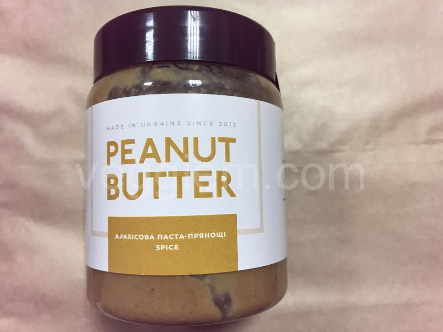 Натуральная арахисовая паста spice, ORTYM, 250 грамм, пластик