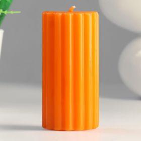 Силиконовая форма для свечи Цилиндр рельефный 5х10 см