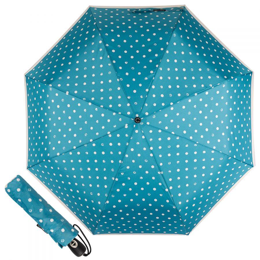 Зонт складной Pierre Cardin 82297-OC Blue Dots Crema