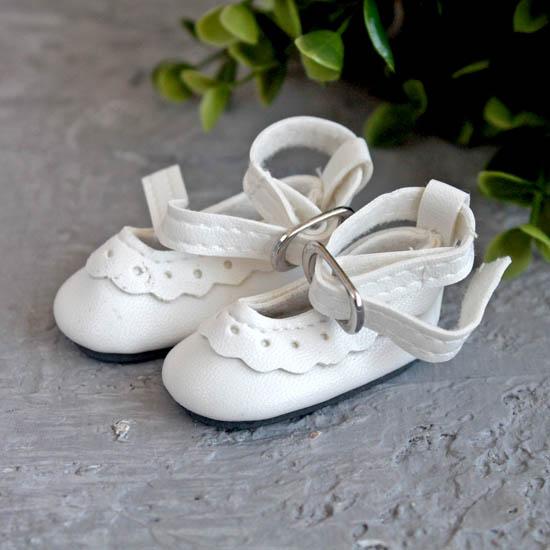 Туфельки для куклы, 4,5 см Белые