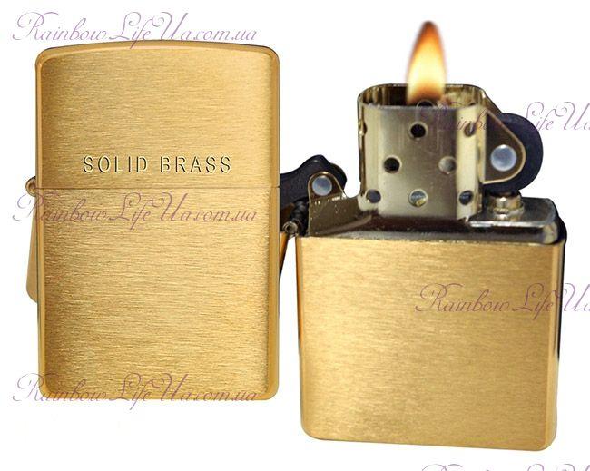 Зажигалка Zippo 204 Classic Style Brushed Brass
