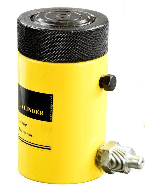 Домкрат гидравлический TOR HHYG-600150LS (ДГ600П150Г),  600т с фиксирующей гайкой