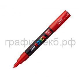Маркер декоративный UNI POSKA 0,7мм красный PC-1M
