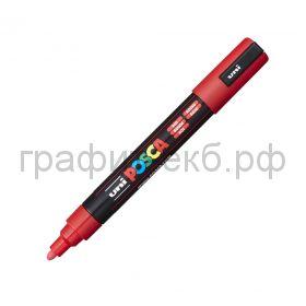Маркер декоративный UNI POSKA 1,8-2,5мм красный цвет15 PC-5M
