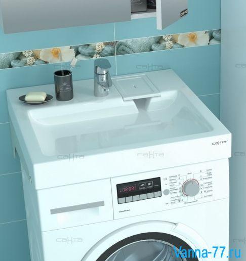 Раковина над стиральной машиной Санта Лидер 60х50 с кронштейнами